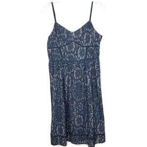 LOFT blue floral lace dress NWT size 6 -603